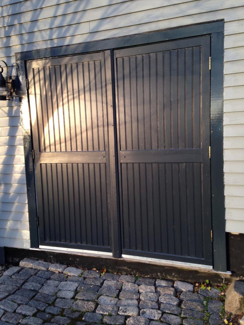 Handmade insulated doors